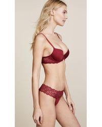 Calvin Klein - Red Seductive Comfort Demi Lift Bra - Lyst