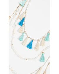 Rebecca Minkoff - Blue Layered Tassel Statement Necklace - Lyst