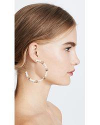 BaubleBar - Multicolor Imitation Pearl Hoop Earrings - Lyst