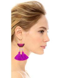 Shashi - Purple Camille Earrings - Lyst