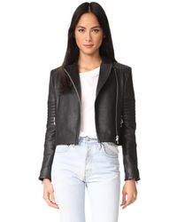J Brand - Black Aiah Leather Jacket - Lyst