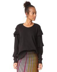 Wilt - Black Raw Ruffle Sweatshirt - Lyst