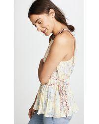 Rebecca Taylor - Multicolor Sleeveless Lemon Rose Top - Lyst
