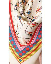 Tory Burch - Multicolor Dancers Silk Square Scarf - Lyst