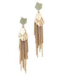 Alexis Bittar - Metallic Dangling Tassel Earrings - Lyst