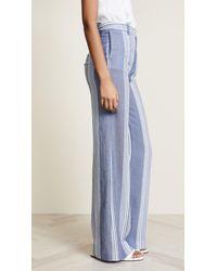 Victoria, Victoria Beckham Blue Wide Leg Trousers