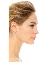Jacquie Aiche - Metallic Mini Diamond Shaker Hoop Earring - Lyst