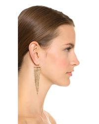 Kenneth Jay Lane | Metallic Polished Fringe Earrings | Lyst