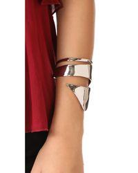 Alexis Bittar - Metallic Liquid Armor Cuff Bracelet - Lyst