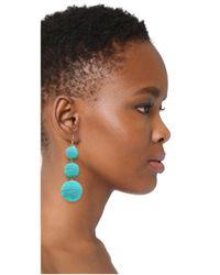 Kenneth Jay Lane - Blue Triple Tier Drop Earrings - Lyst