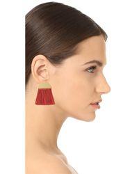 Madewell - Multicolor Half Moon Fringe Earrings - Lyst