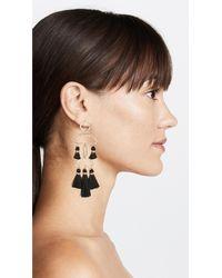 Shashi - Black Alicia Tassel Earrings - Lyst