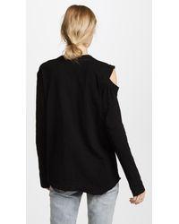 Wilt - Black Cutout Shoulder Tunic Tee - Lyst