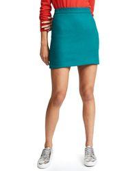 MILLY - Blue Doubleface Wool Modern Miniskirt - Lyst