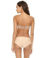 Free People - White Essential Lace Bandeau Bra - Lyst