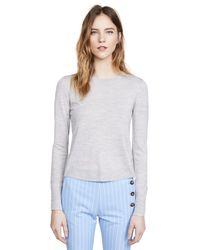 Veronica Beard - Gray Alma Sweater - Lyst