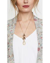 Pamela Love - Metallic Phoebe Drop Pendant Necklace - Lyst