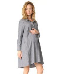 HATCH   Gray Maggie Flannel Dress   Lyst