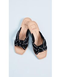 Dolce Vita - Black Haviva Knit Sandals - Lyst