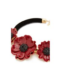 Kate Spade | Red Precious Poppies Statement Necklace | Lyst