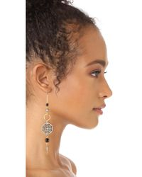 Ben-Amun - Metallic Circle Drop Fishook Earrings - Lyst