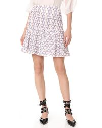 Giambattista Valli - Multicolor Ruffle Skirt - Lyst