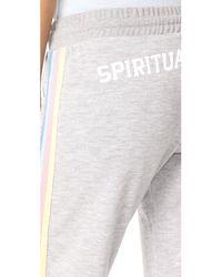 Spiritual Gangster   Gray Sg Varsity Bliss Sweatpants   Lyst