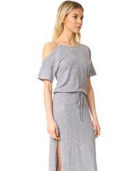 Lanston - Gray Cold Shoulder Tee Midi Dress - Lyst
