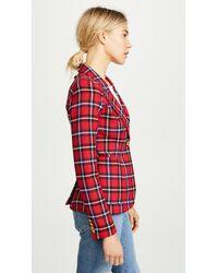 Smythe - Red Patch Pocket Duchess Blazer - Lyst