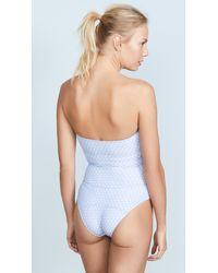 Lisa Marie Fernandez - Blue Triple Poppy Swimsuit - Lyst