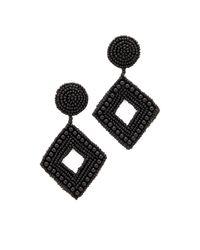 Kenneth Jay Lane - Black Drop Earrings - Lyst
