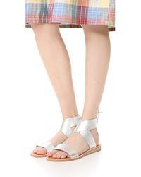 Dolce Vita | Metallic Pomona Sandals | Lyst