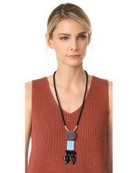 Marni - Multicolor Resin Tie Necklace - Lyst