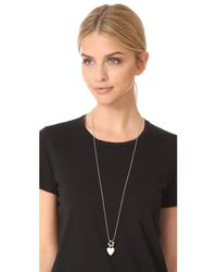 Eddie Borgo - Metallic Double Heart Charm Pendant Necklace - Lyst