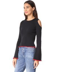 Glamorous - Black Cold Shoulder Sweater - Lyst