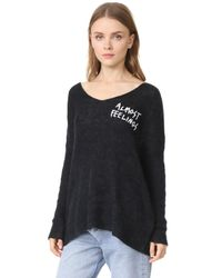 Wildfox - Black Almost Feelings Beyond Sweater - Lyst