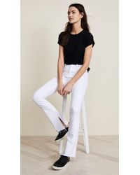 Hudson - White Heartbreaker High Rise Boot Cut Jeans With Slits - Lyst