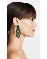 Kenneth Jay Lane | Green Waterfall Earrings | Lyst