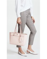 Tory Burch - Pink Robinson Small Tote - Lyst
