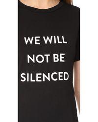 Prabal Gurung - Black We Will Not Be Silenced Tee - Lyst