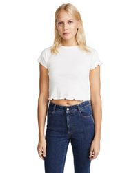 Joe's Jeans - White X Taylor Hill Baby Tee - Lyst