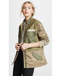 Rag & Bone - Green Modular Field Jacket - Lyst