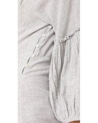 Free People - Gray Corsette Mini Dress - Lyst