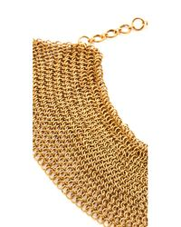 Serefina - Metallic Mesh Collar Necklace - Lyst