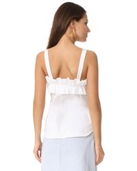 Amanda Uprichard | White Cynthia Top | Lyst
