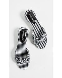 Jeffrey Campbell - Multicolor Beaton Gingham Slides - Lyst