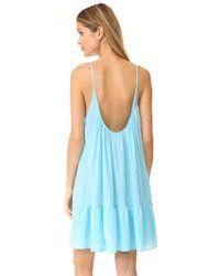 9seed - Blue St. Tropez Ruffle Mini Dress - Lyst