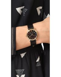 Marc Jacobs - Black Small Roxy Leather Watch - Lyst