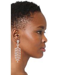 Kenneth Jay Lane - Multicolor Pear Fringe Earrings - Lyst