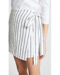 Theory White Wrap Tie Skirt